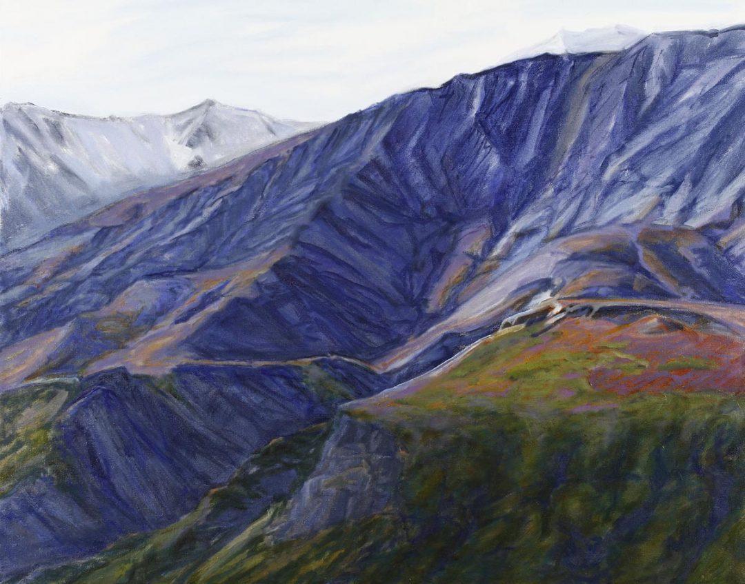 Above Tree Line Alaska Range 24x18