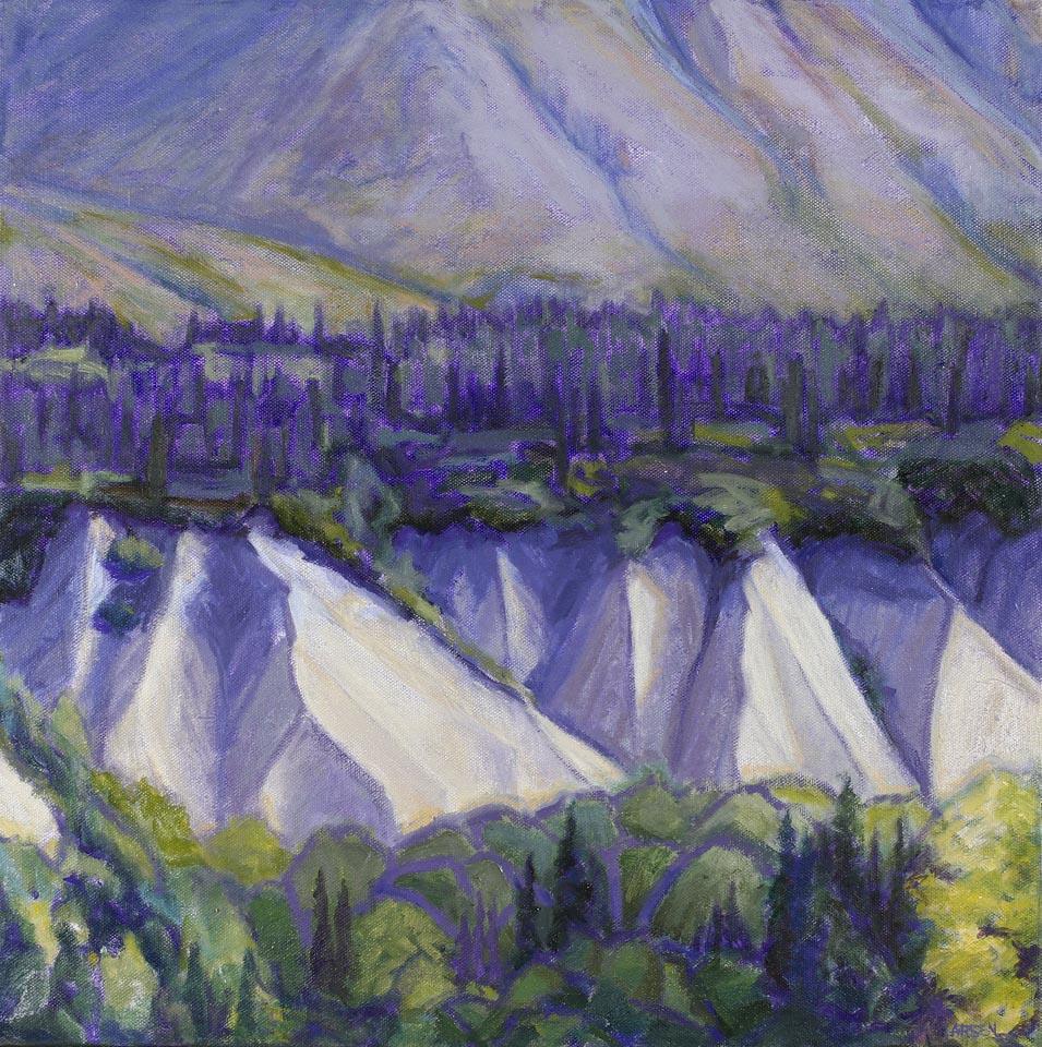 Layers - Alaska Range 18x18