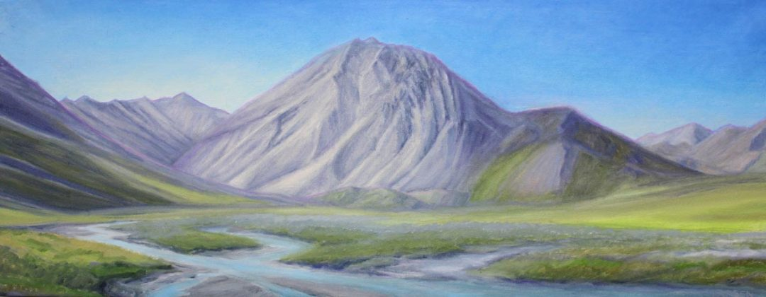 Mountain with Uplift 36x14