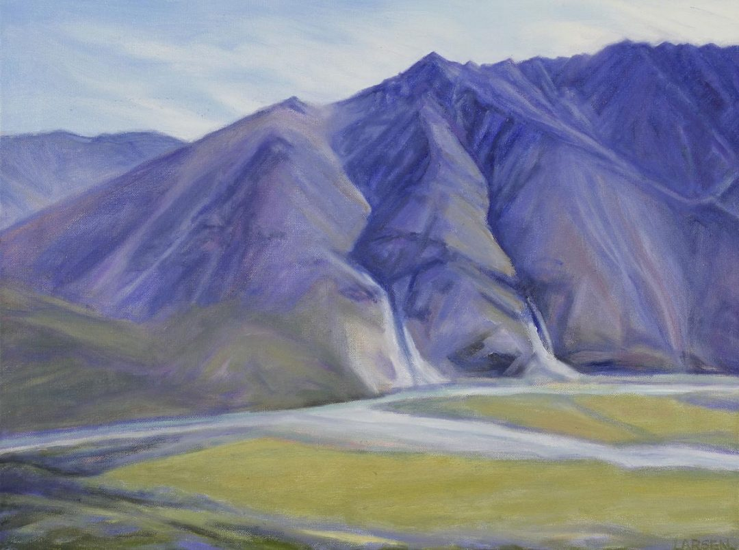 Mountains by the Marsh Fork 24x18