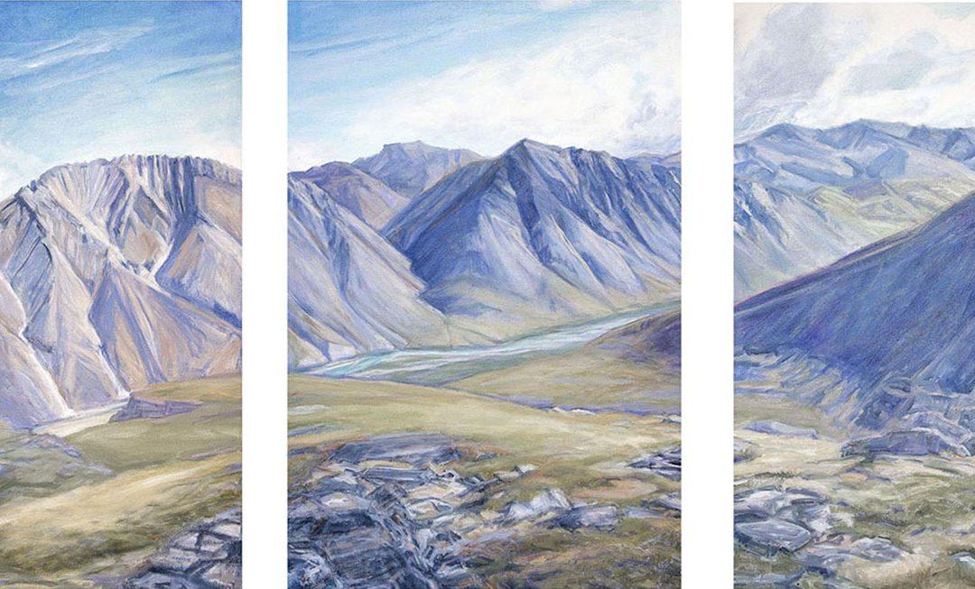 Summer Marsh Fork triptych