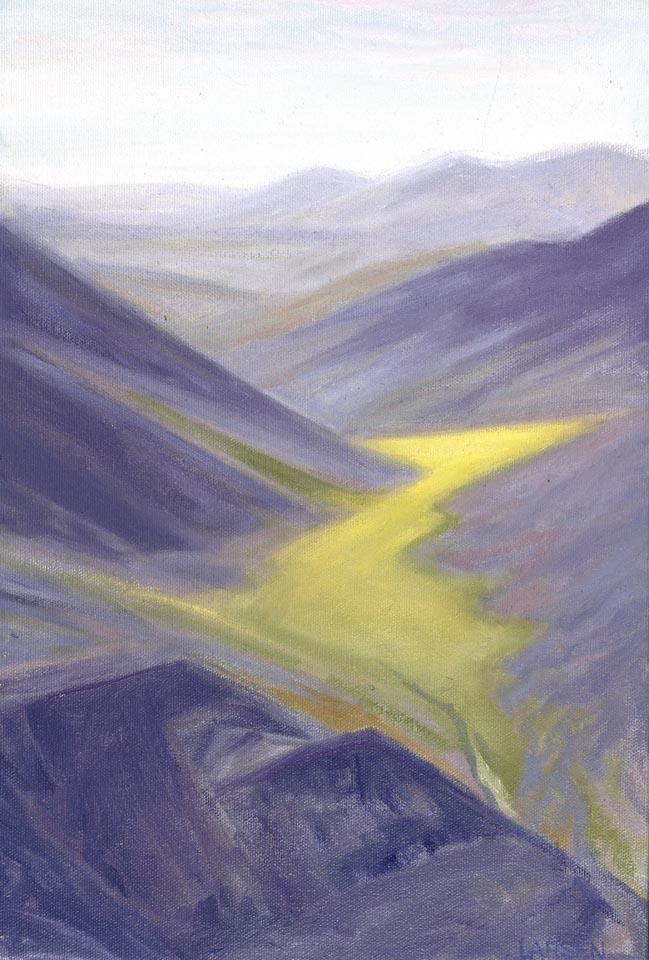 Valley Pass-Near Nigu 10x15